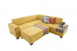Cooper Köşe Koltuk Takımı Sarı - Thumbnail